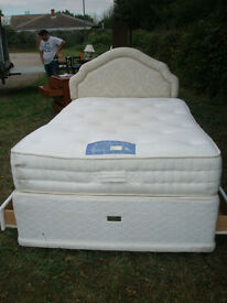 """Small Double Bed with 11"""" thick, Anti allergenic""""Kaymed"""" Mattress"""
