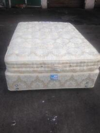 Double divan Hypnos bed and mattress. Excellent condition. Very comfortable £150 Good bargain price