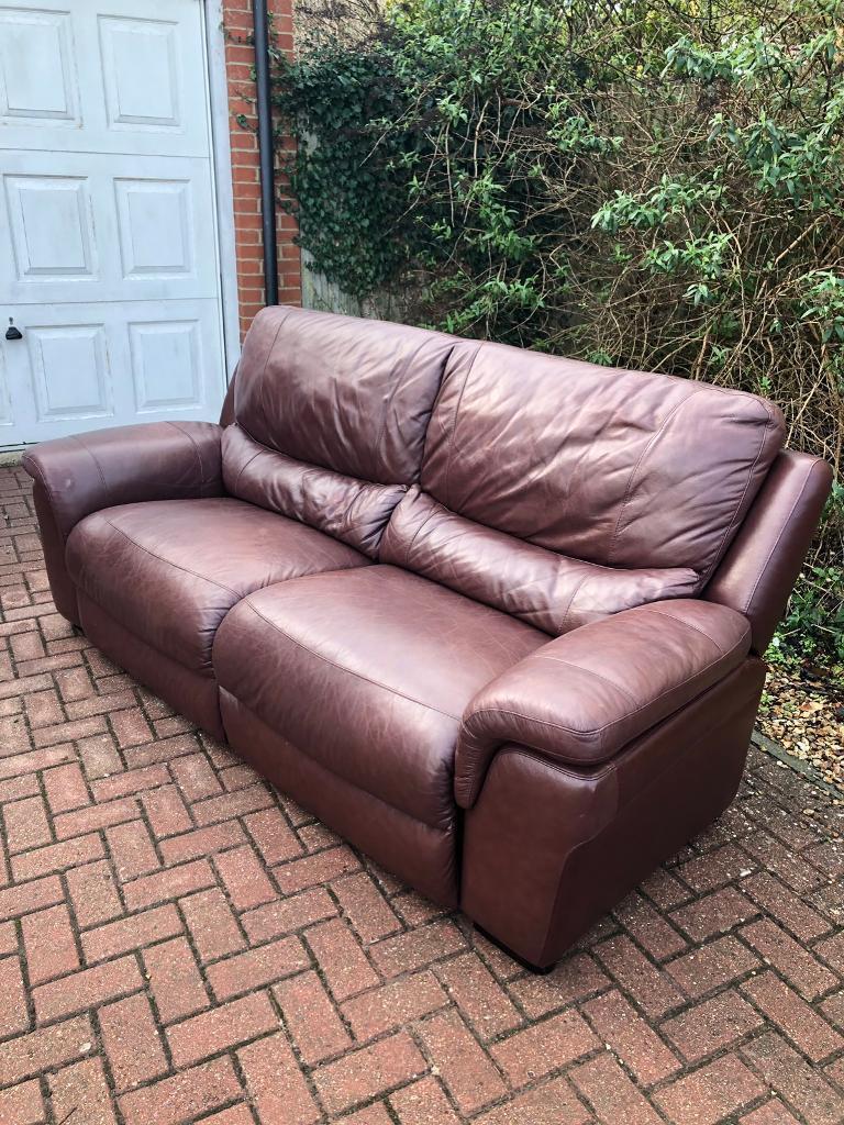 Leather sofa   in Portland, Dorset   Gumtree