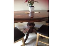 Dining Tables & 4 chairs. In excellent condition. Collection NR1