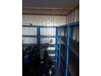 Metal garage shelving