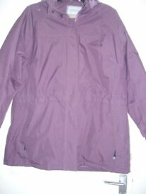 Ladies Reggatta Waterproof Jacket Purple size 18
