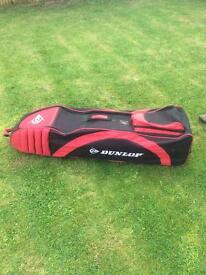 Dunlop Travel Bag, Red & Black with Durable rigid base and wheels