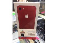 iphone 7 128gb Red unlocked brand new deal box 12 month apple warranty