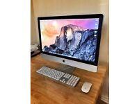 "Apple iMac 27"" 3.1Ghz 32gb RAM 1TB HDD 1GB GRAPHICS CARD Desktop computer"