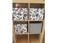 Ikea storage boxes grey/black & white