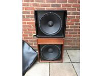 2 x Bass Cabs Cabinets Speakers