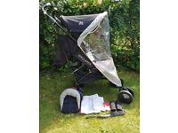 Maclaren techno xt pushchair/buggy with raincover