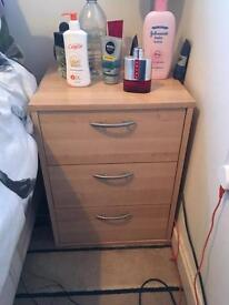 Bedside cabinet and tall boy