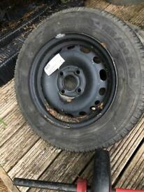 Spare tyre 155/80 R13 with rim