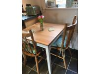 **LOVELY DINING TABLE AND TWO CHAIRS**