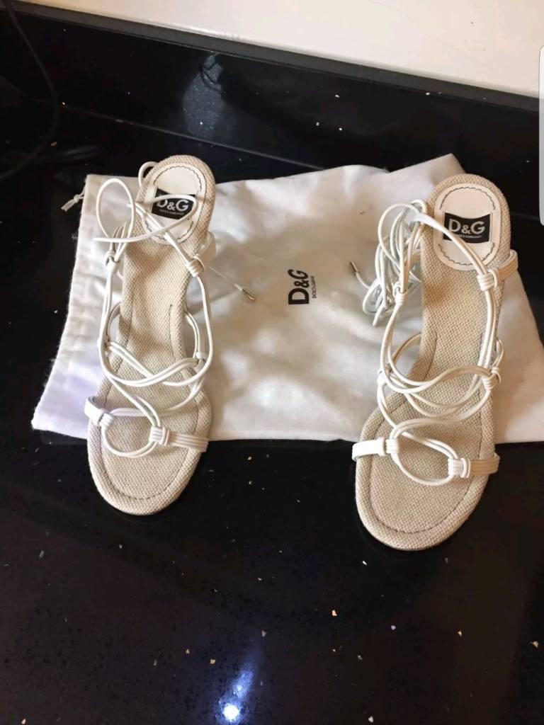 Dolce & Gabbana lace up stilettos • size 7 • RRP £175