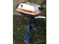 2 stroke outboard engine crescent 3.9 hp spares or repair