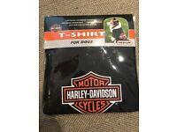 Harley Davidson Shield and Bar Dog T-Shirt, Size Medium
