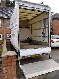 Tail lift Luton removalbox van, horse box van, 3.5t house removal van, Renault Master T33 2.5d MWB