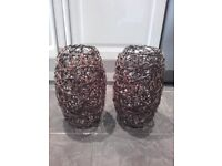 2 Celling Fit Wicker Lampshades