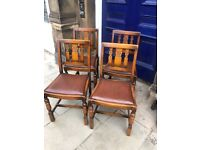 4 x Vintage Chairs - free local delivery Solid condition Feel free to view