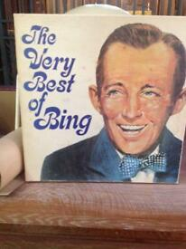 The very best of Bing Crosby vinyl records