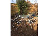 4 Seater Glass Garden Set