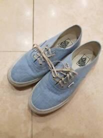 Pale blue Vans