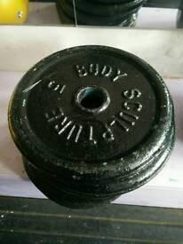 30kg standard weight plates