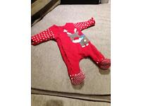 Mothercare Xmas New Baby All In One