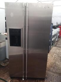Amica stainless steel good looking frost free A-class American style fridge freezer cheap