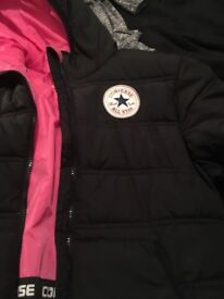 Converse jacket and Adidas tracksuit