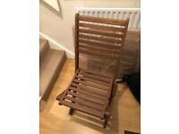 4 exterior wooden chairs