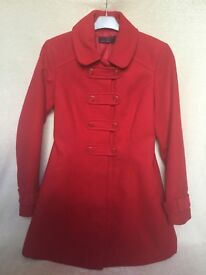 New look red coat size 10