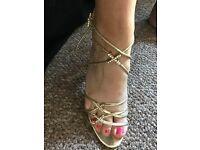 Gorgeous gold heels