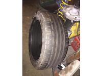 225/45/17 Bridgestone 7mm part worn tyre