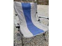 Pair of foldable camping chairs