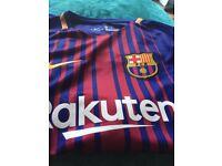 Boys new Barcelona football top