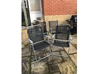Set of 4 garden chairs, great condition £20