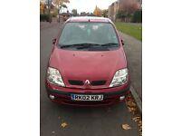 Renault Megane scenic for sale, £600