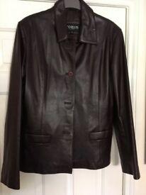 Ladies leather box jacket size 16