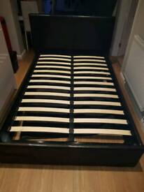 Small double ottoman storage bed