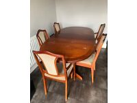 Extendable Dining Table and 5 Chairs