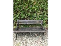 Vintage cast iron garden or patio bench