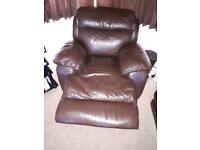 Excellent condition - Brown Leather Electric Recliner