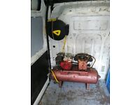 Fully working petrol air compressor with airline