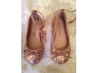Girls glitter next shoes size 9