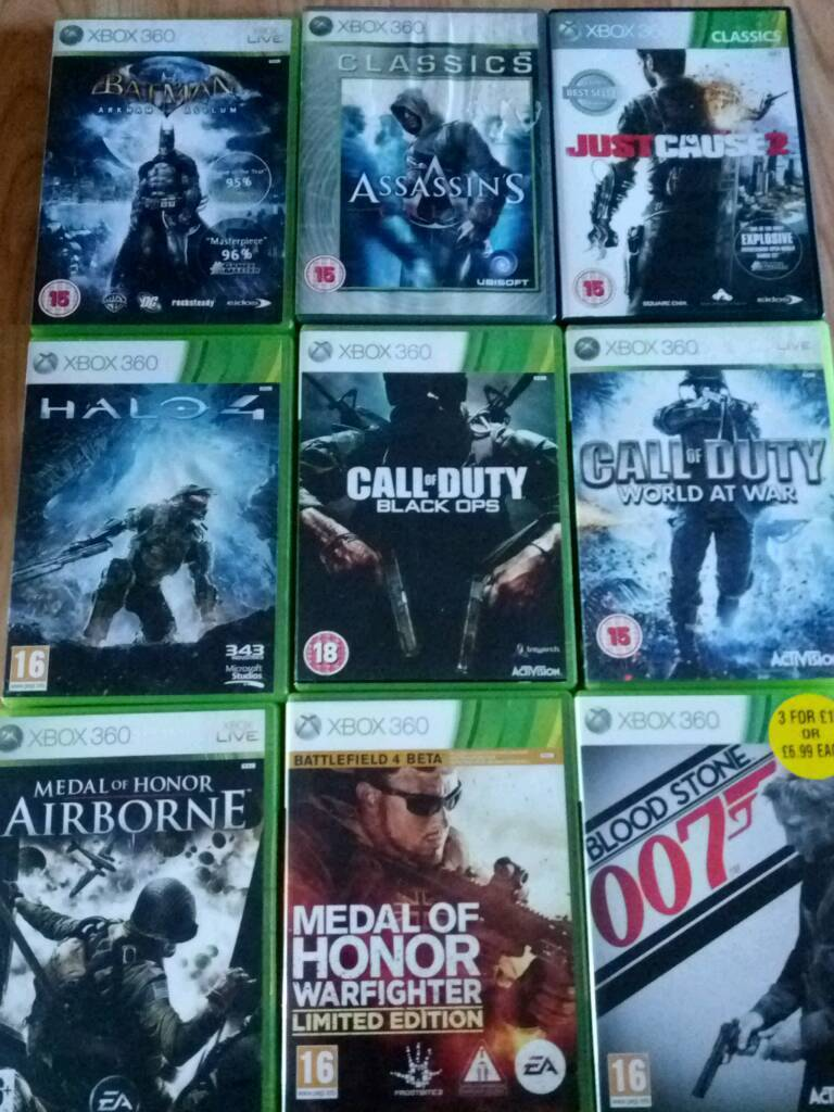 9 x Xbox 360 Games