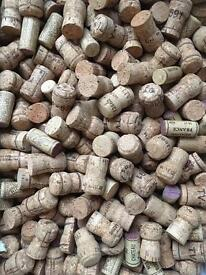Used wine & champagne corks