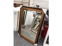 "ribbed gold framed mirror 36""x24"""