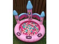 Princess Castle Paddling Pool / Ball Pit