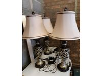 4 x Table Lamps