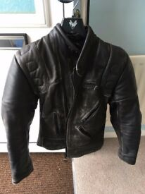 "Leather Motorcycle Jacket Size 34"" chest"