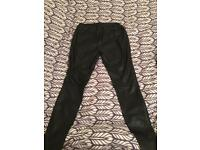 Black leather Trousers New Yorker